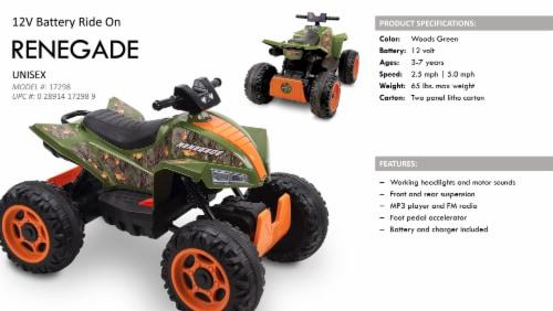 Huffy Renegade Battery Ride-On ATV - Camo Green Perspective: top