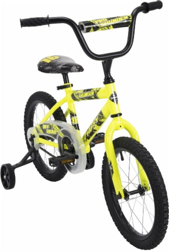 Huffy Pro Thunder Boys' Bicycle - Yellow/Black Perspective: top