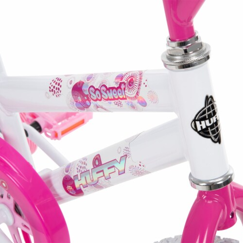 Huffy So Sweet Girls Bicycle - White/Pink Perspective: top