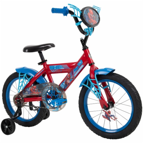 Huffy Spider-Man Bicycle - Blue/Red Perspective: top