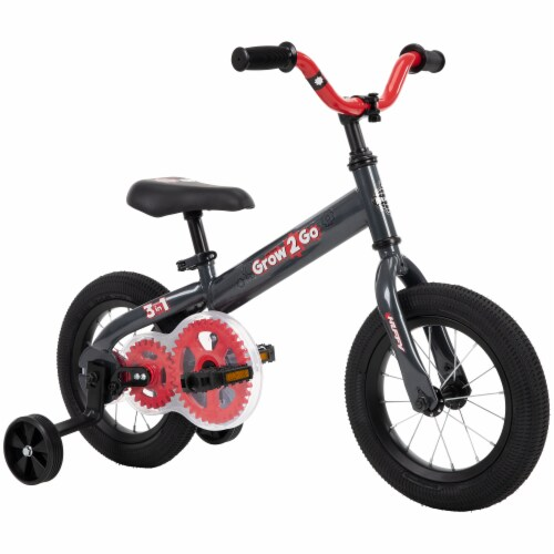 Huffy Grow 2 Go 3-in-1 Boys' Conversion Bicycle - Red/Black Perspective: top