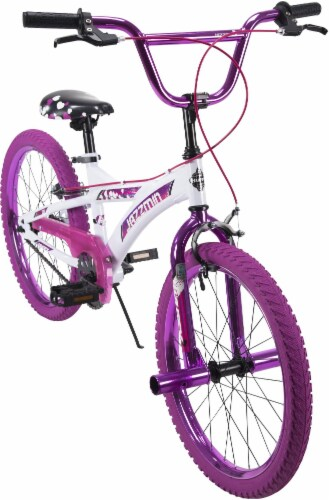 Huffy Jazzmin BMX-Style Girls' Bicycle - White/Hot Pink Perspective: top