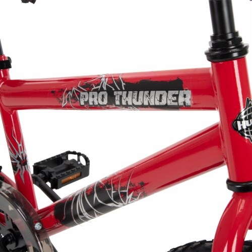 Huffy Pro Thunder Bicycle -  Red/Black Perspective: top