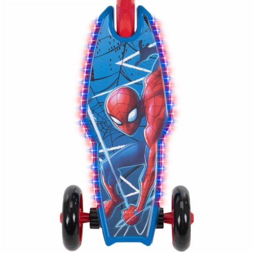 Huffy Electrolight Spider-Man 3 Wheel Scooter - Red/Blue Perspective: top