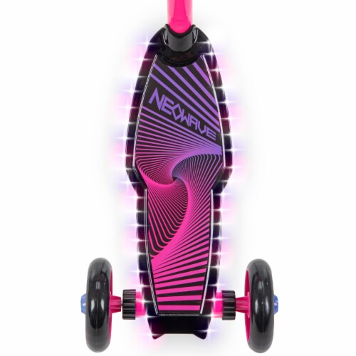 Huffy Neowave Electrolight 3-Wheel Scooter - Pink/Purple Perspective: top