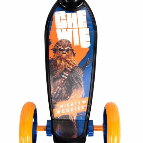 Huffy 78858 Star Wars Chewbacca Preschool Toddler Scooter with Storage, Blue Perspective: top