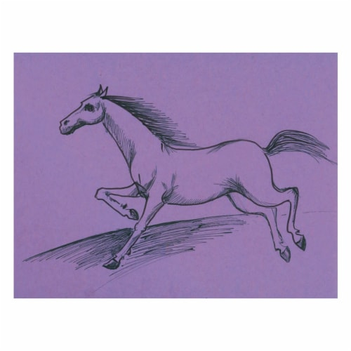 """Pacon 36"""" ArtKraft Duo-Finish Paper Roll - Purple Perspective: top"""