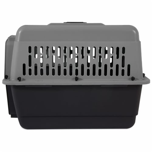 Aspen Pet Porter 26 Inch Hard Sided Travel Crate Carrier Kennel, Black and Gray Perspective: top