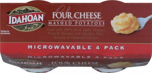 Idahoan Four Cheese Mashed Potato Microwave Cup Perspective: top