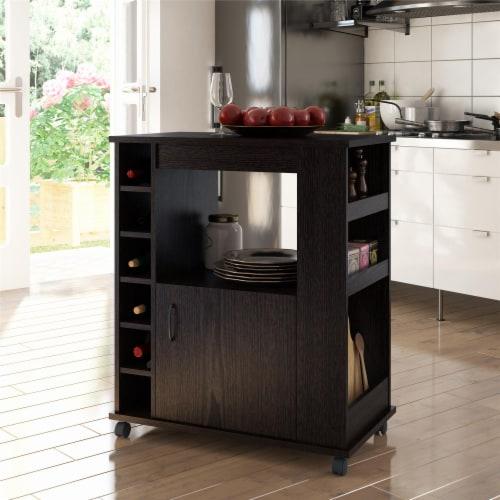Williams Kitchen Cart, Espresso Perspective: top
