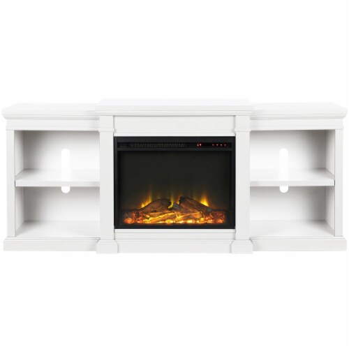 Manchester Electric Fireplace TV Stand for TVs up to 70 , White Perspective: top