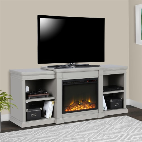Manchester Electric Fireplace TV Stand or TVs up to 70 , Gray Perspective: top