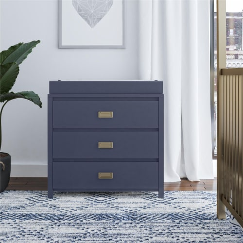Monarch Hill Haven 3 Drawer Navy Changing Dresser Perspective: top