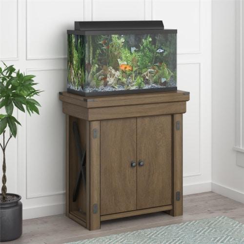 Wildwood 20 Gallon Aquarium Stand, Rustic Gray Perspective: top