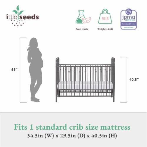 Monarch Hill Ivy Grey Metal Baby Crib Perspective: top