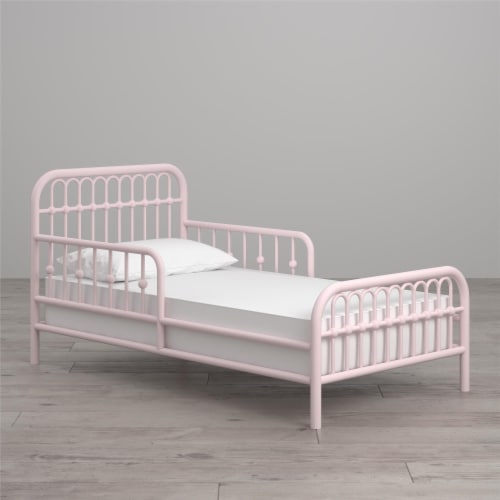 Monarch Hill Ivy Metal Toddler Bed, Pink Perspective: top