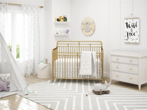 Monarch Hill Poppy Changing Table Topper, Ivory Oak Perspective: top