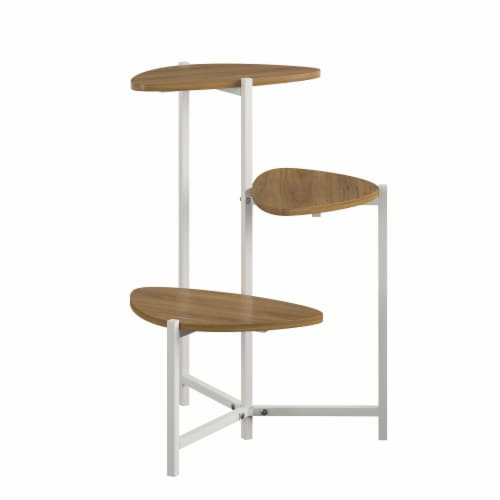 Tallulah Plant Stand, Walnut/White Perspective: top