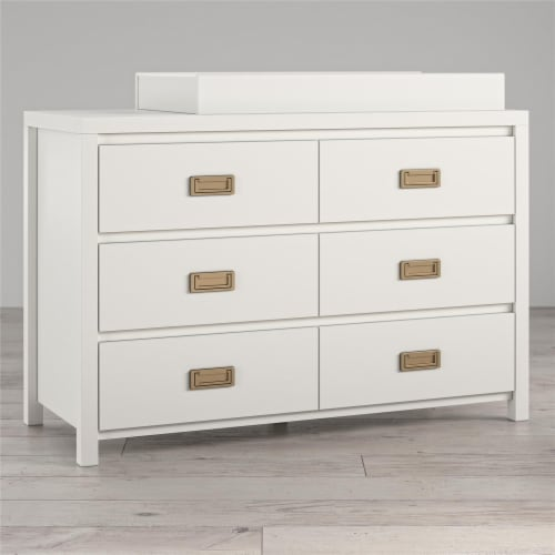 Monarch Hill Haven 6 Drawer White Changing Dresser Perspective: top