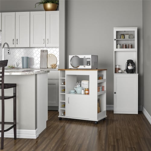 Vienna Tall Bar Cabinet, White Perspective: top
