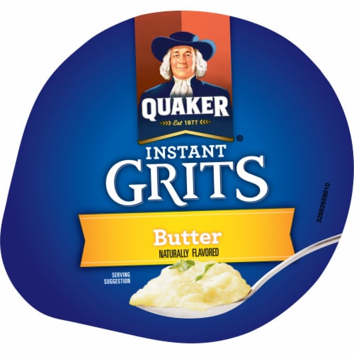 Quaker Instant Grits Butter Flavored Breakfast Express Cup Perspective: top
