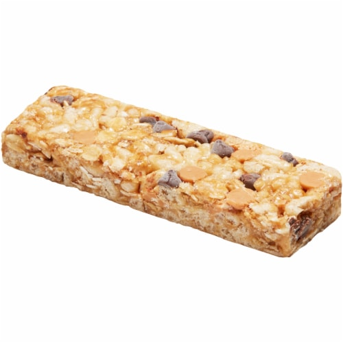 Quaker Chewy Peanut Butter Chocolate Chip Granola Bars Perspective: top