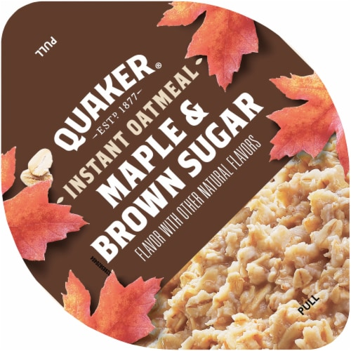 Quaker Maple and Brown Sugar Instant Oatmeal Cereal Cup Perspective: top