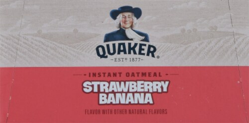 Quaker® Strawberry Banana Instant Oatmeal Perspective: top