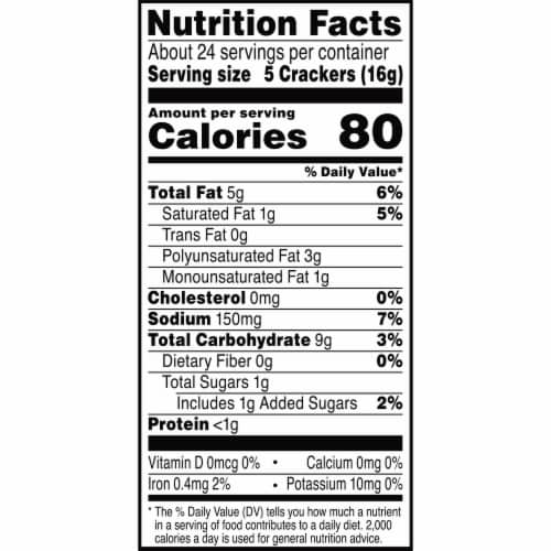 Kellogg's Town House Baked Original Crackers Perspective: top