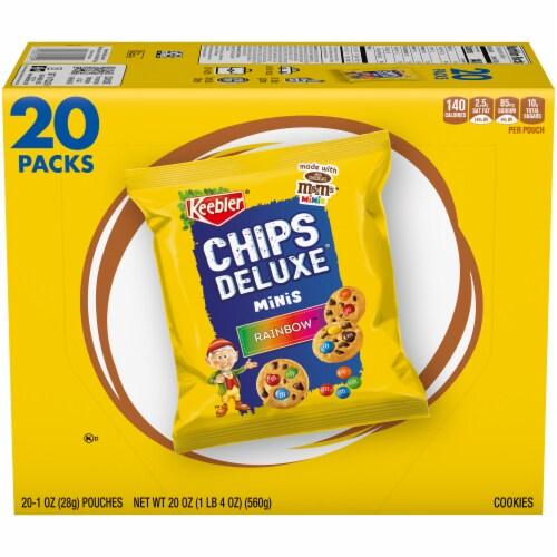 Keebler Chips Deluxe Rainbow Minis Cookies Perspective: top
