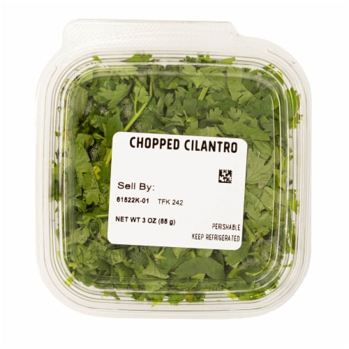 Chopped Cilantro Perspective: top