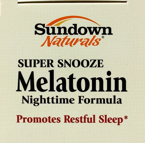 Super snooze melatonin