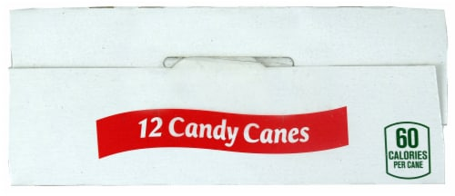 Spangler Natural Peppermint Candy Canes 12 Count Perspective: top