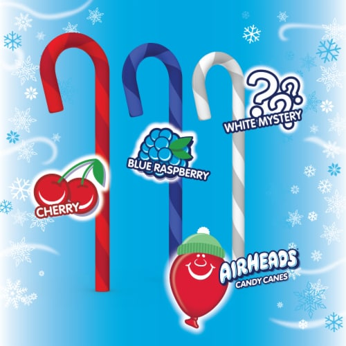 Airheads Assorted Flavor Candy Canes Perspective: top