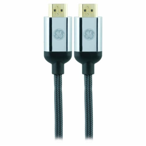 GE Ultra Pro Premium HDMI Cable - Black/Silver Perspective: top