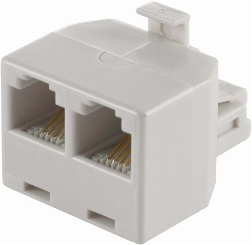 GE Duplex In-Wall Adapter - White Perspective: top