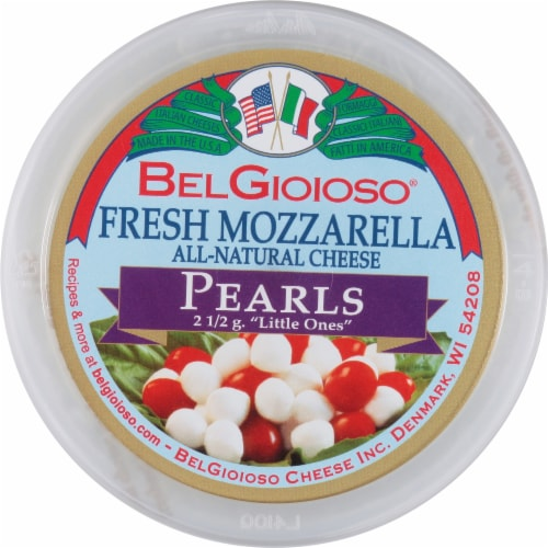 BelGioioso Fresh Mozzarella Cheese Pearls Perspective: top