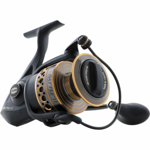 Penn BTLII8000102H Battle II HT100 Saltwater Spinning Fishing Reel and Rod Combo Perspective: top
