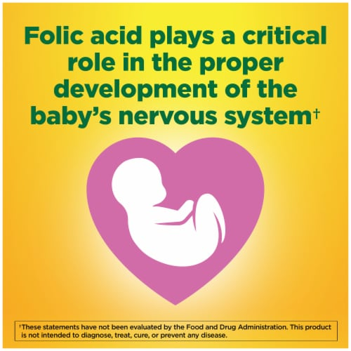 Nature Made® Folic Acid 400mcg Tablets Perspective: top