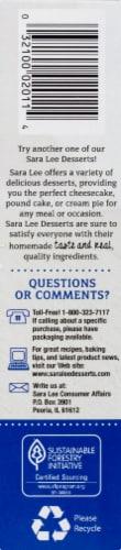 Sara Lee Classic Cheesecake Perspective: top