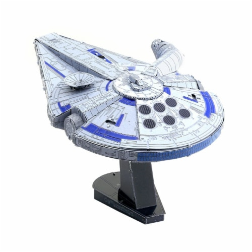 Fascinations Star Wars Lando's Millennium Falcon 3D Metal Model Kit Perspective: top