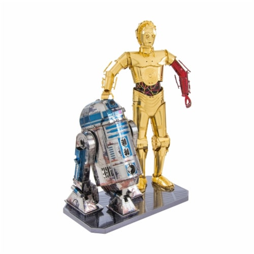 Fascinations Metal Earth Star Wars R2-D2 & C-3PO 3D Metal Model Kit Perspective: top