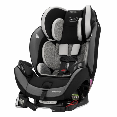 Evenflo EveryStage DLX All-in-One Kids Rear Facing Convertible Car Seat, Canyons Perspective: top
