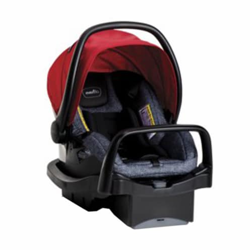 Evenflo Pivot Baby Stroller and Safemax Infant Car Seat Travel System, Red Perspective: top