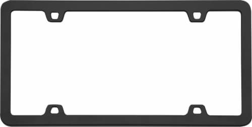 Cruiser Accessories Neo License Plate Frame - Black Perspective: top