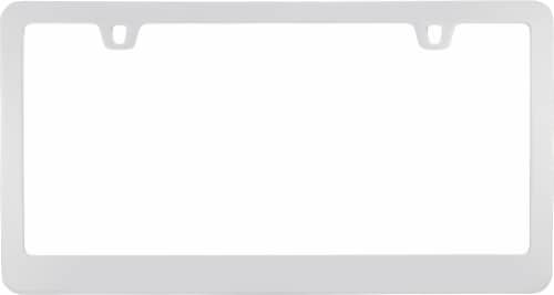 Cruiser Accessories Neo Classic License Plate Frame - Chrome Perspective: top