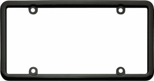 Cruiser Accessories Classic Lite License Plate Frame - Black Perspective: top