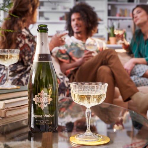 Segura Viudas Brut Reserva Sparkling Wine Perspective: top