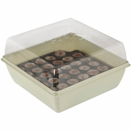 Jiffy 34-Cell 11 In. x 11 In. Self Watering Greenhouse Seed Starter Kit T34H Perspective: top