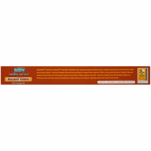 Ronzoni Healthy Harvest Ancient Grains Thin Spaghetti Perspective: top